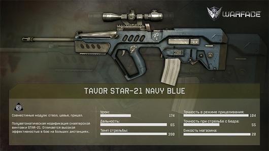 Tavor STAR 21 Navy Blue
